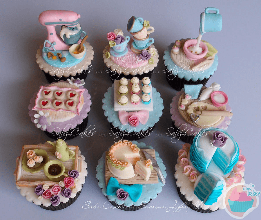 Baking Theme Cupcakes By Sabz Cakes
