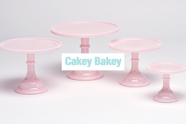 Milk Glass Cake Stands From Mosser Glass New Colours