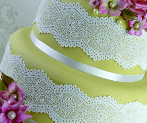 Broderie Anglaise Cake Lace Mat